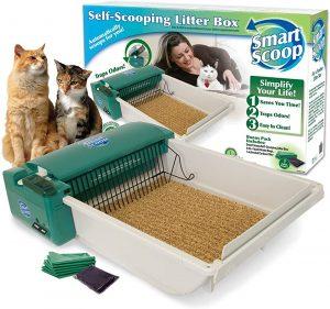 Pet Zone SmartScoop Basic Green Self-Scooping Cat Litter Box