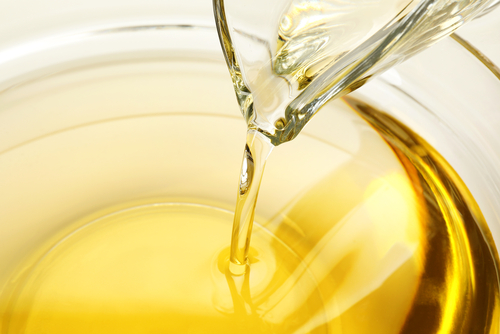 A bowl of vegetable oil